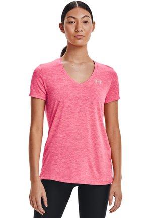 TECH TWIST - T-shirt print - cerise / pink lemonade / metallic silver