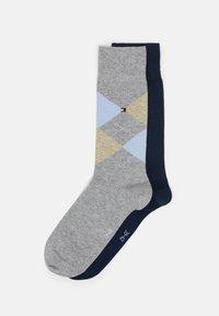 light grey melange/dark blue
