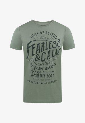 RIVLEON - Print T-shirt - hellgrün hjd