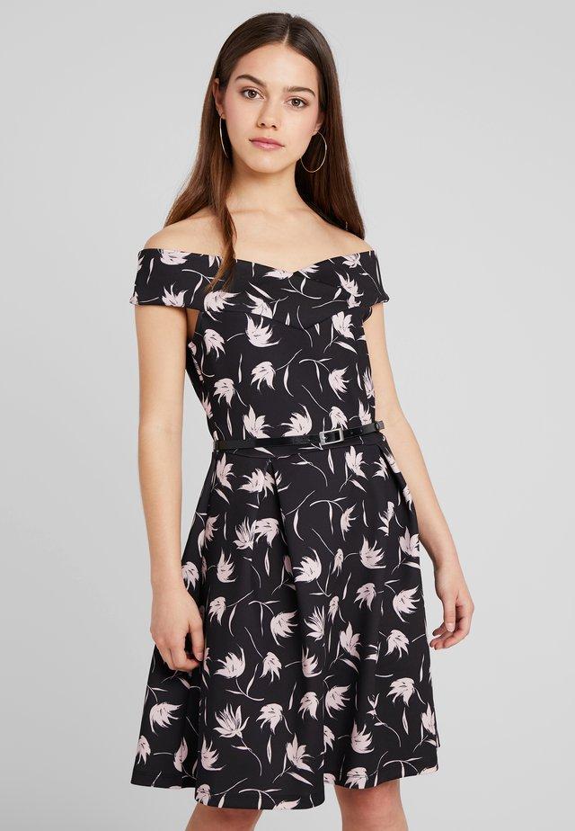 Jersey dress - lilac/black