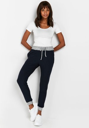CONTRAST SOFT - Tracksuit bottoms - blue