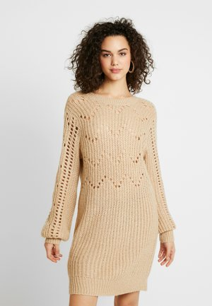 DRESS - Robe pull - beige