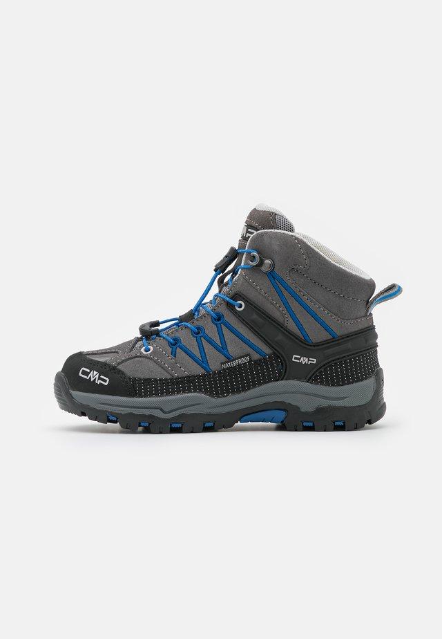 KIDS RIGEL MID SHOE WP UNISEX - Hiking shoes - grey/royal