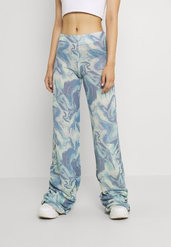 RUCHED JOGGER MARBLE - Joggebukse - blue mix