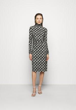 SHEER DRESS - Jersey dress - ecru/black