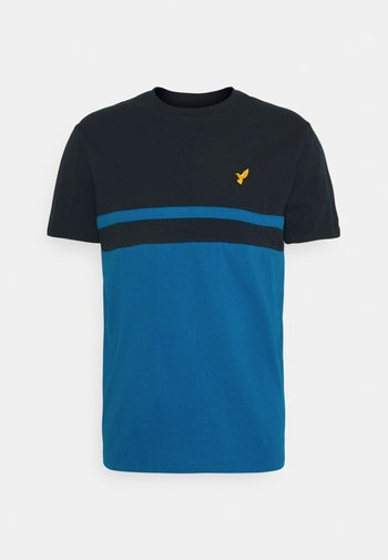 Print T-shirt - dark blue / blue