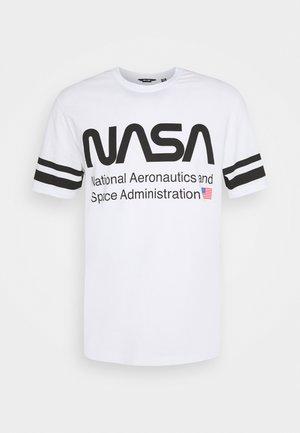 ONSNASA STRIPE TEE - Camiseta estampada - white
