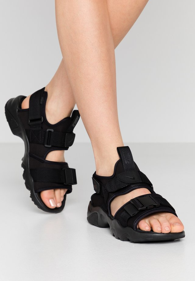 CANYON SLIDE - Sandalen - black