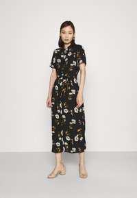 Vero Moda - VMMELLIE LONG SHIRT DRESS - Shirt dress - black/mellie - 0