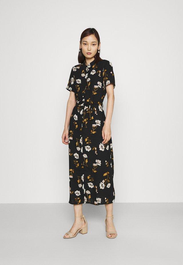 VMMELLIE LONG SHIRT DRESS - Blousejurk - black/mellie