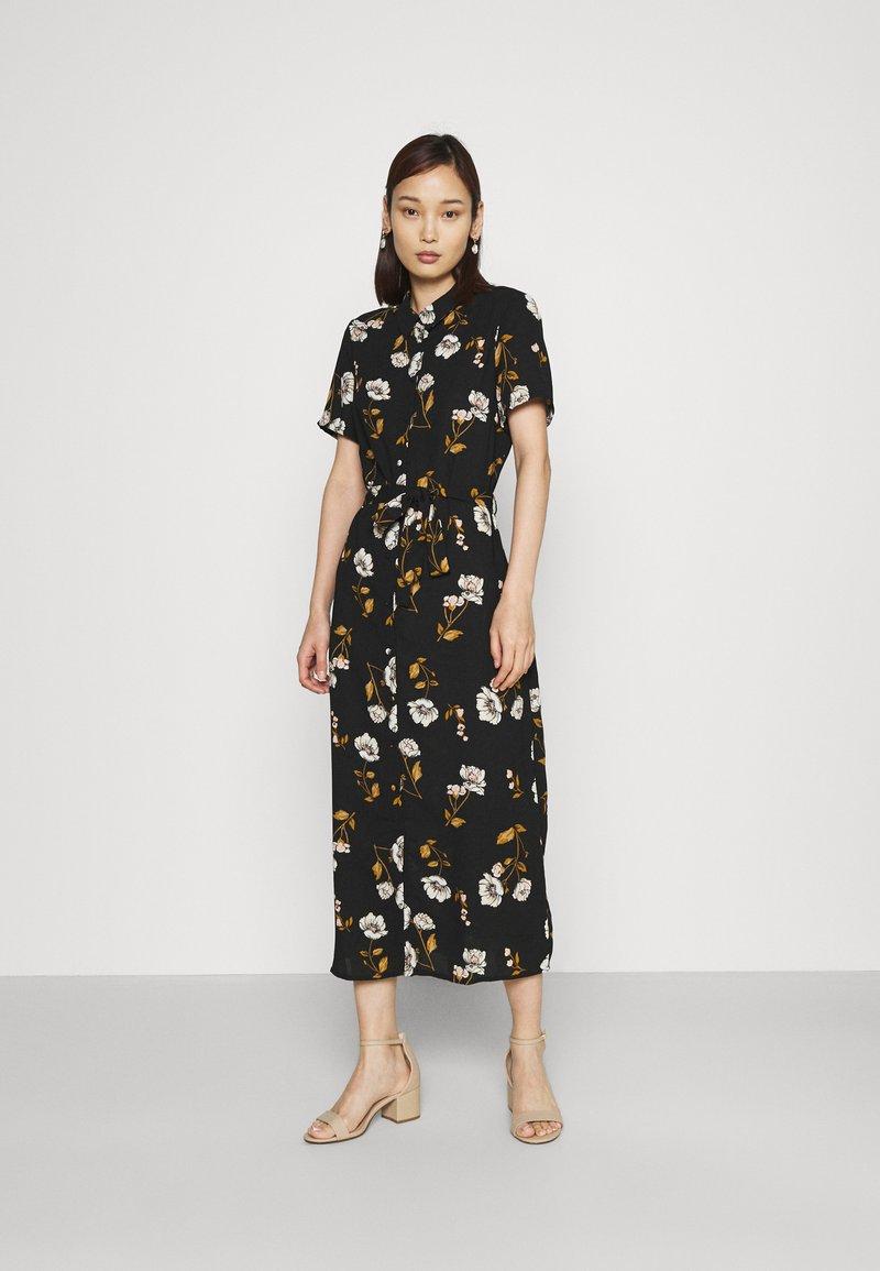 Vero Moda - VMMELLIE LONG SHIRT DRESS - Shirt dress - black/mellie