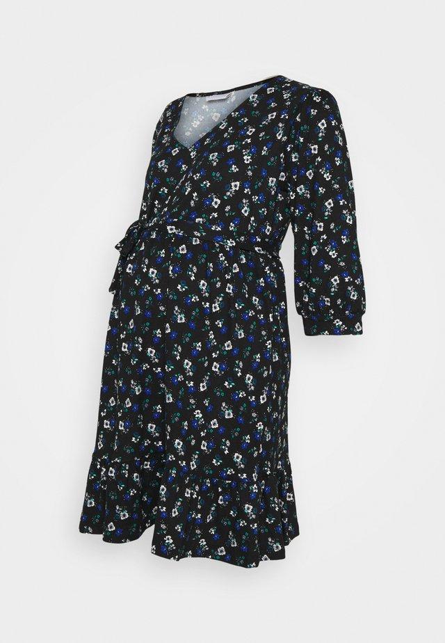 MLKADY 3/4 SHORT DRESS  - Jerseykjole - black