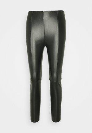 VMMODANIMA COATED - Leggings - black