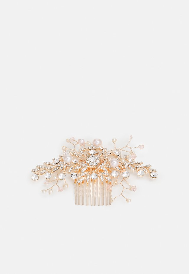MULLENDER - Hair Styling Accessory - clear & pearl on rose gold-coloured