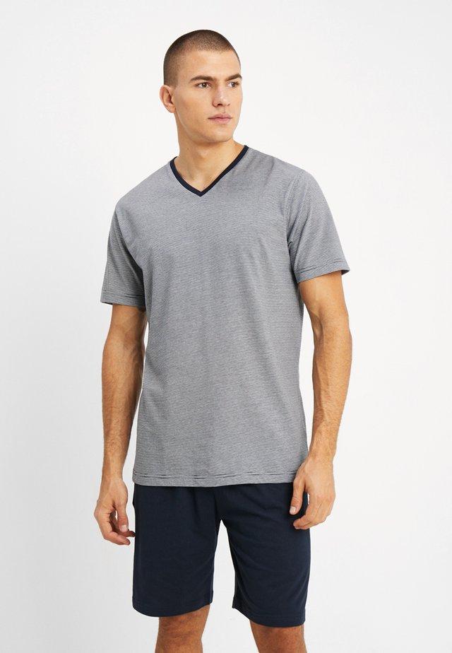 SHORTY V-NECK - Pyjama - dark blue