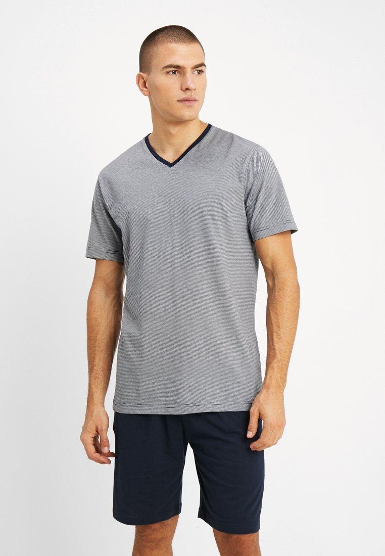 TOM TAILOR - SHORTY V-NECK - Pyžamo - dark blue