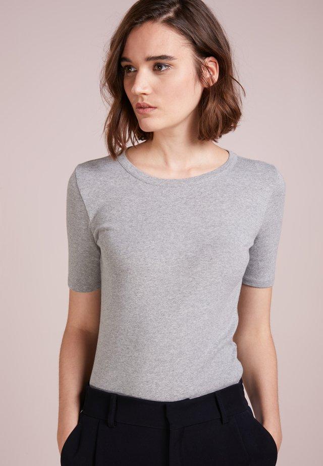 CREWNECK ELBOW SLEEVE - Camiseta básica - heather grey