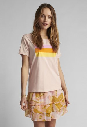 Print T-shirt - peach skin