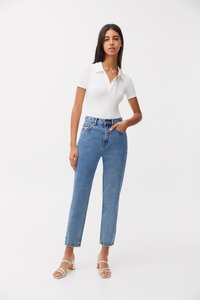 PULL&BEAR - MOM - Relaxed fit jeans - light blue - 1