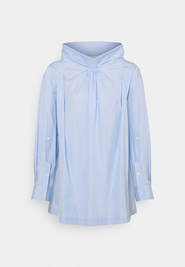 POPLIN OVERSIZED DRAPE COLLAR SHIRT - Camicetta - oxford blue