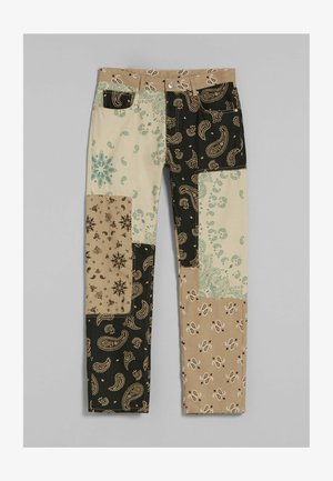 PAISLEY PATCHES - Relaxed fit -farkut - beige