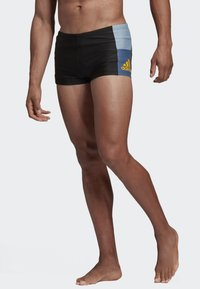 adidas Performance - FITNESS COLORBLOCK SWIM BOXER - Swimming trunks - black - 1