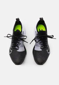 Nike Performance - AIR ZOOM PEGASUS TURBO UNISEX - Juoksukenkä/neutraalit - black/white/volt - 3