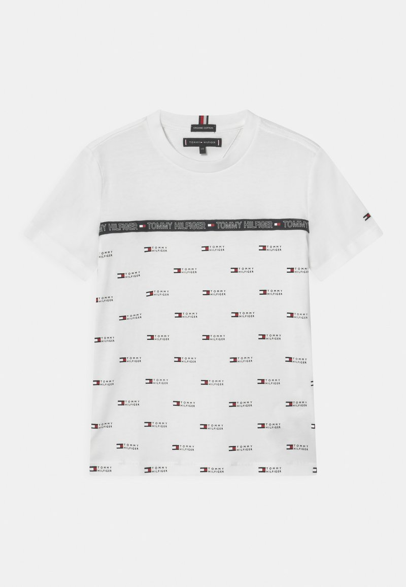 Tommy Hilfiger - TAPE  - T-shirt z nadrukiem - white