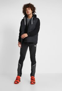 The North Face - OPEN GATE - Zip-up hoodie - black/white - 1