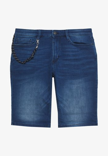 Denim shorts - mid stone wash denim