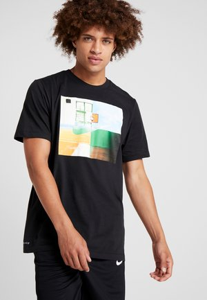 DRY TEE PHOTO - Print T-shirt - black