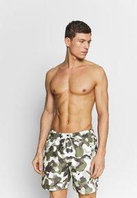 G-Star - DIRIK SIDE PANEL - Swimming shorts - cool grey birch - 0