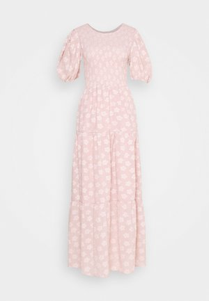 MOTHER'S MIND TIERED MIDI DRESS - Maxikjoler - pink