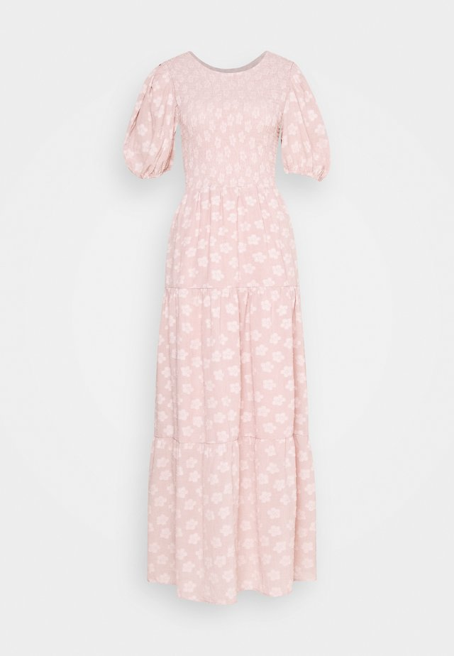 MOTHER'S MIND TIERED MIDI DRESS - Robe longue - pink