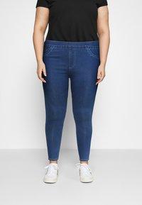 CAPSULE by Simply Be - SCULPTING SKINNY JEGGINGS - Jeans Skinny Fit - mid blue - 0