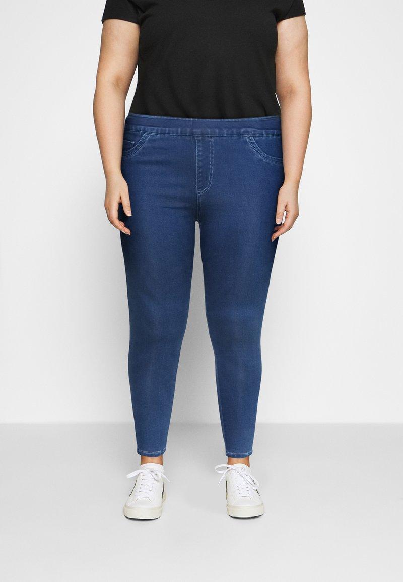 CAPSULE by Simply Be - SCULPTING SKINNY JEGGINGS - Jeans Skinny Fit - mid blue