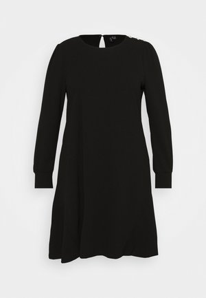 VMJASMINE BUTTON DRESS - Jerseykjoler - black