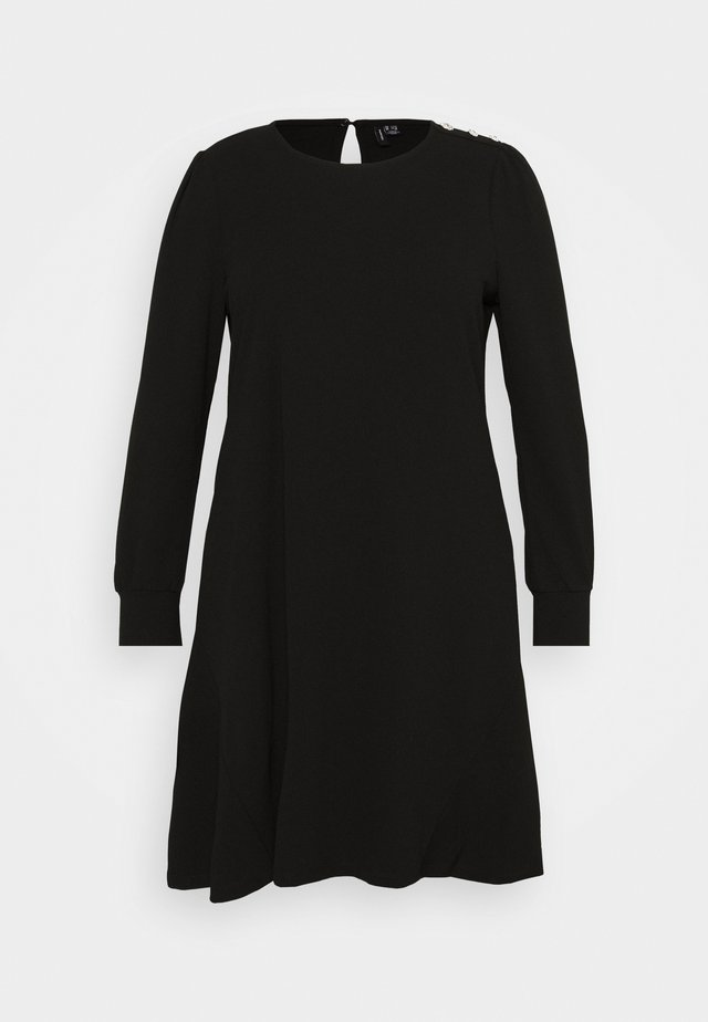 VMJASMINE BUTTON DRESS - Robe en jersey - black