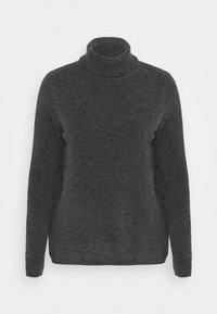 Selected Femme - SLFSTACEY ROLLNECK - Jumper - dark grey melange - 0
