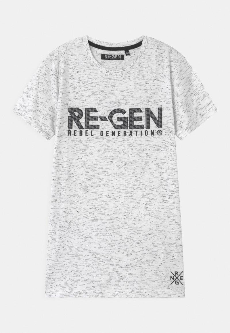 Re-Gen - TEEN BOYS  - Print T-shirt - white