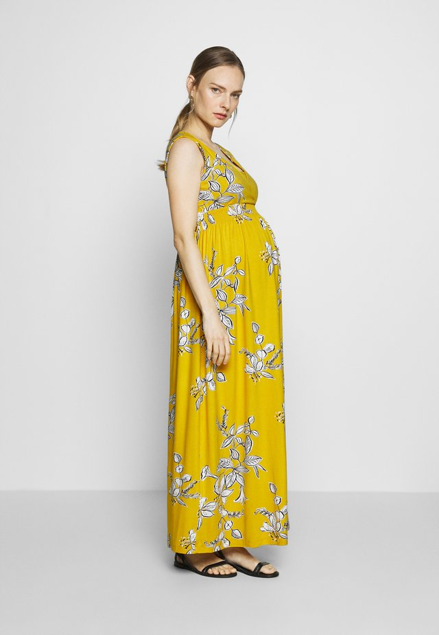 FLORAL MATERNITY & NURSING - Maxikjole - yellow