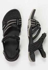 Hi-Tec - SAVANNA II  - Walking sandals - black/cool grey - 1
