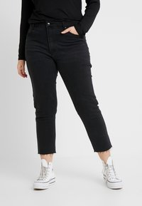 ONLY Carmakoma - CARMILY - Džíny Straight Fit - black denim - 0