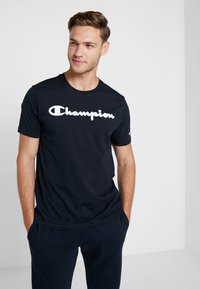 Champion - CREWNECK - T-shirts print - dark blue - 0
