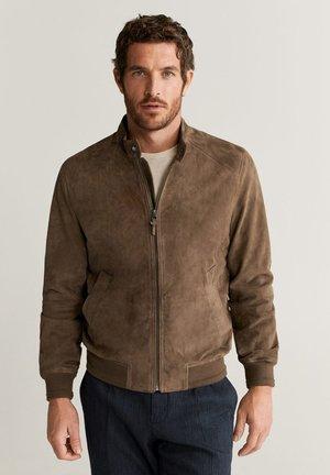 KIGAL - Leather jacket - mittelbraun
