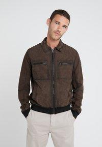 BOSS - JOAST - Leather jacket - brown - 3