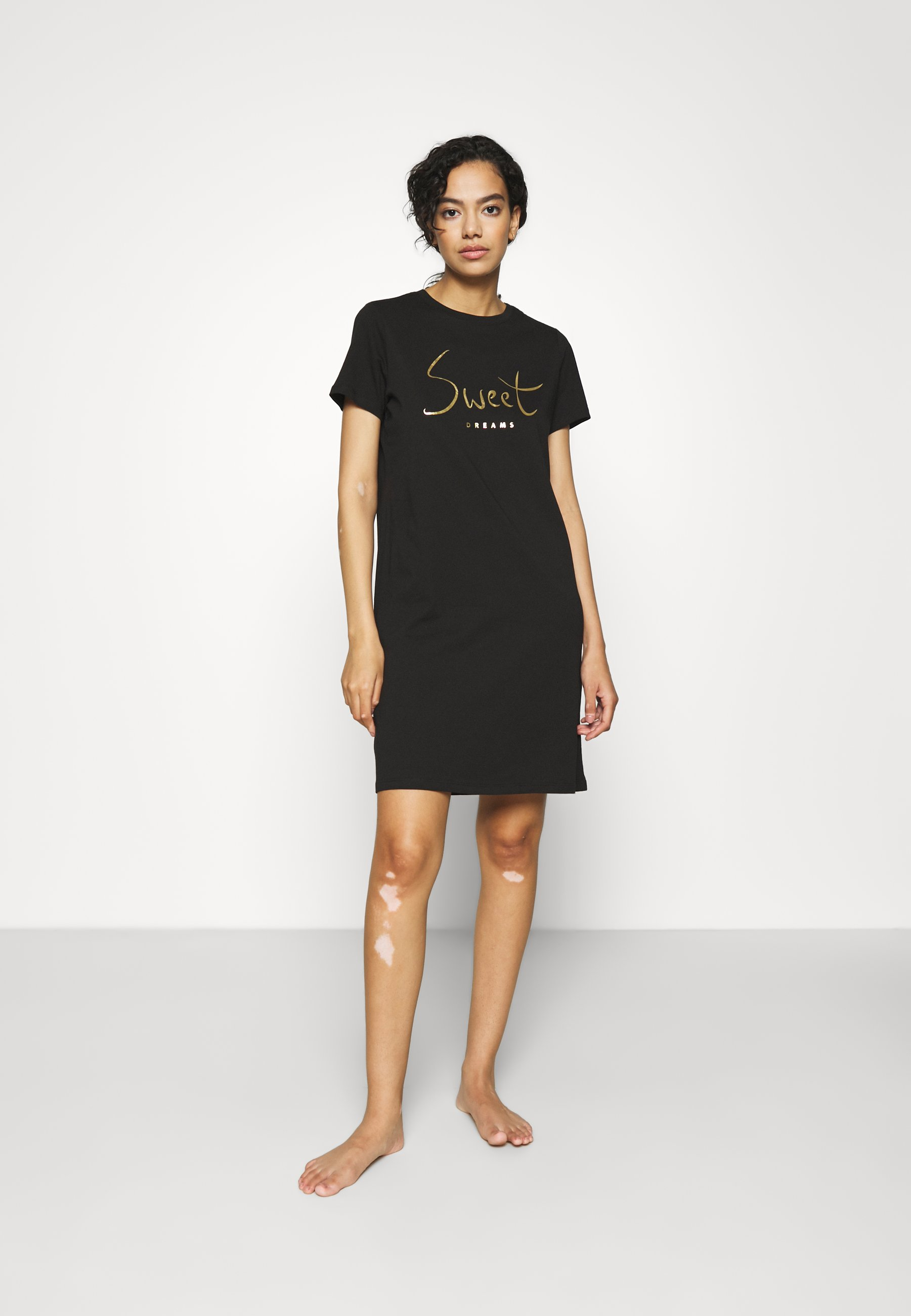 Donna ONLEMELIE NIGHTWEAR DRESSSWEET DREAMS NIGHT DRESS - Camicia da notte - black