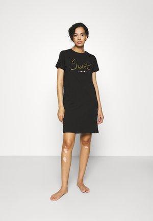 ONLEMELIE NIGHTWEAR DRESSSWEET DREAMS NIGHT DRESS - Negligé - black