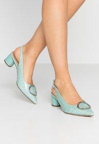Dorothy Perkins - EMMA CROC SLING POINT - Classic heels - green - 0