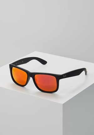 JUSTIN - Sunglasses - black brown mirror orange